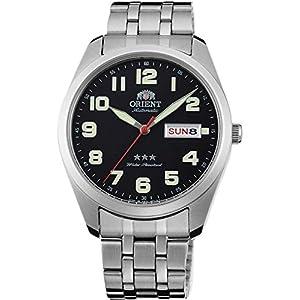 Orient Reloj Analógico para Unisex Adultos de Automático con Correa en Acero Inoxidable RA-AB0024B19B