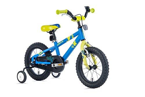 "14\"" Zoll Fahrrad leichtes Alu Kinderrad LEADER FOX Snake Boy blau matt MTB"