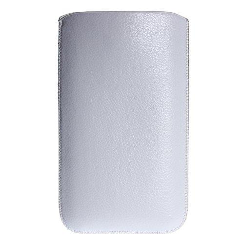 """wortek® Große Universal Smartphone / Phablet Tasche bis 5,7"""" (z.B. Samsung Galaxy Note 2, Note 3, Note 4, LG G3, Sony Z4, Apple iPhone 6 Plus etc.) Weiß Weiß"""