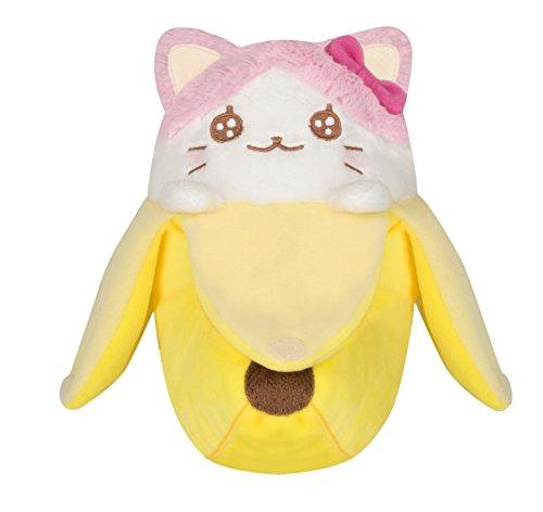 Bananya Plüsch Figur Bananyako Katze zum Anime 18cm gelb weiß (Tabby-katze-plüsch)