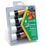 Reeves Acrylfarben Set Metallic 4x 75ml [Spielzeug]
