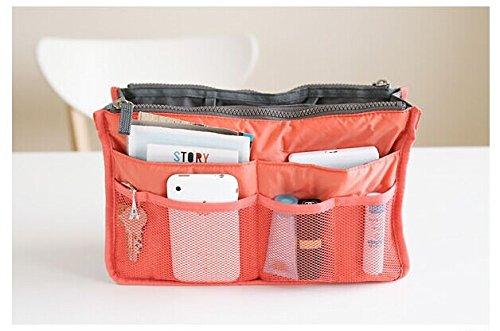 Ducomi® Handtaschen-Organizer mit 13 großen Taschen: Dokumente, Telefon, Make-up, Schlüssel an Ihren Fingerspitzen (Green) Orange
