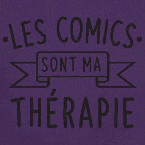 Les comics sont ma thérapie - Femme T-Shirt - 14 couleur Violet