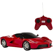 Rastar - Ferrari LaFerrari, coche teledirigida, escala 1:24, color rojo (ColorBaby 41153)