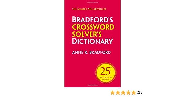 Collins Bradford S Crossword Solver S Dictionary Amazon Co Uk Bradford Anne R 9780007478750 Books