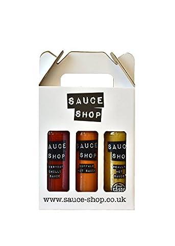 Sauce Shop Hot Sauce Box (3 x 260g)