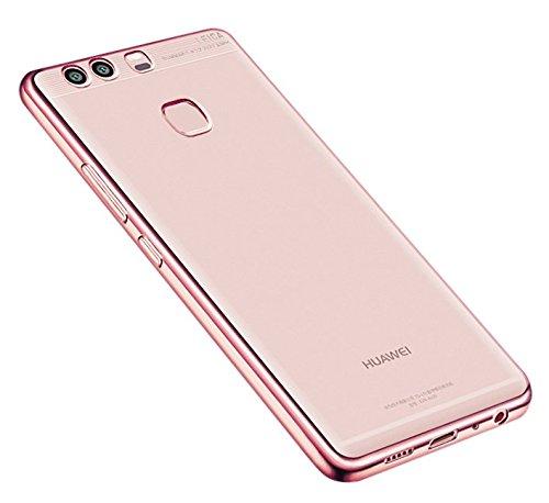 "DolDer Chrom Cover für Huawei P9 Plus 5.5"" Schutz Hülle TPU Case Silikon Tasche Metallic Bumper- rosegold"