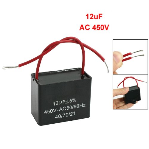condensatori - TOOGOO(R) CBB61 12uF AC 450V 50 / 60Hz metallizzato Motore Run Ceiling Fan Capacitor