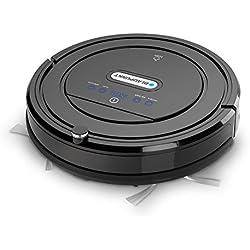 Blaupunkt Bluebot Staubsauger-Roboter (2 in 1: Saugroboter & Wischroboter) mit Nasswisch-Funktion, 59 dB, geeignet bei Allergien, für Tierhaare, harten Boden, Teppich [Energieklasse a]