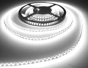 LED Universum Bande lumineuse DEL avec pré-câblage central 5mt blanc froid coldwhite 600LED SUPERHELL 12V 48W