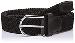 Lino Perros Mens Leather Belt (8903421289721_LMBE00264_95_Black)