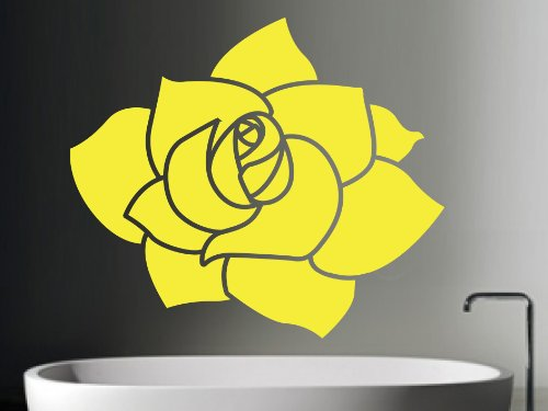 Fingerprints Rose Flower Wall Art Sticker, Sulphur, Small