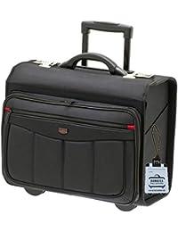 Davidts Pilotenkoffer 47x39x24 cm Aktentrolley Business Tasche Laptop-Fach Schwarz 261 113 Bowatex