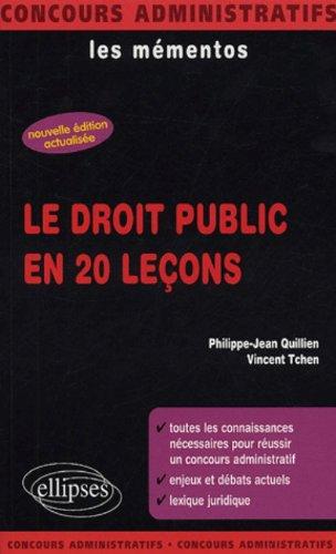 Le droit public en 20 leçons par Philippe-Jean Quillien