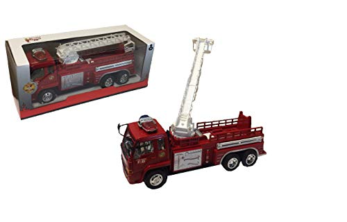 C+P Toy Fire Truck, Extensible Ladder, Friction Movement Friction Power , Spielzeug Feuerwehrauto (Ladder Fire Truck Spielzeug)