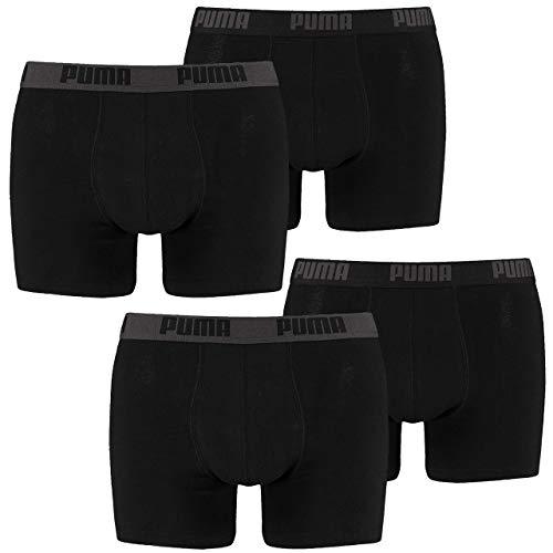 PUMA Herren Basic Boxer Boxershort 4er Pack in vielen Farben, Größe:S;Pack:4er Pack/Paar;Farbe:schwarz (200)