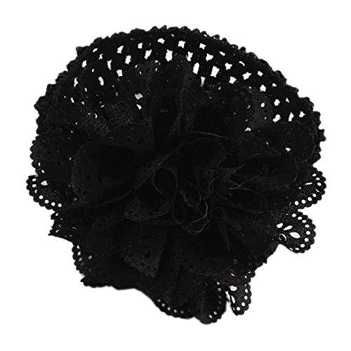 Stirnband, erthome Kinder Baby Mädchen Spitze Blume Haarband Stirnband Dress Up Kopfband (Schwarz)