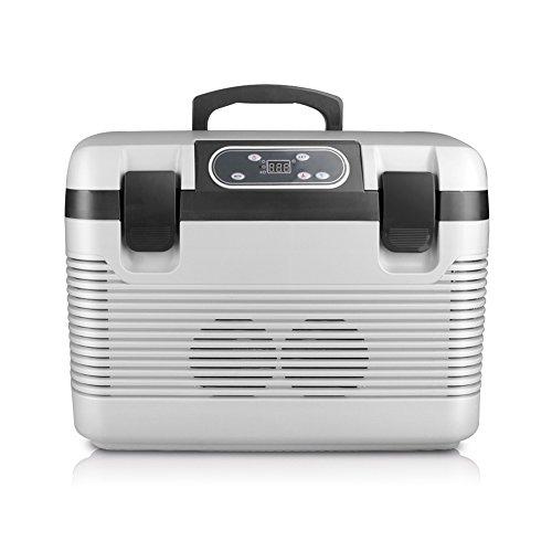 FJW Tragbarer Auto-Kühlschrank Zweikern 19L Schnelle Kühlung 12V Autobenutzung 220V Familiennutzung Miniatur Auto Kühlschrank