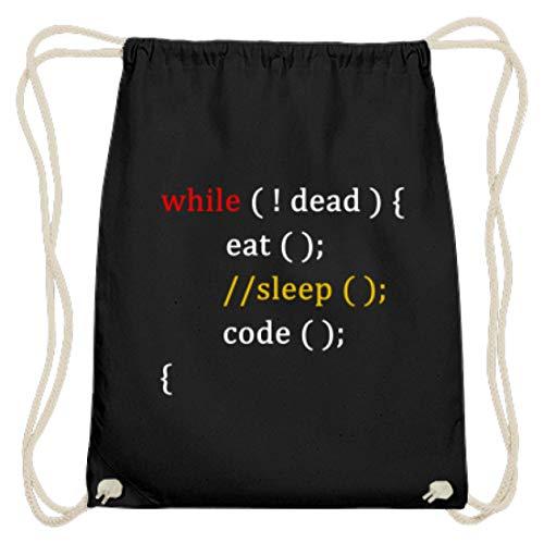 �r Coder und Programmierer - Baumwoll Gymsac -37cm-46cm-Schwarz ()