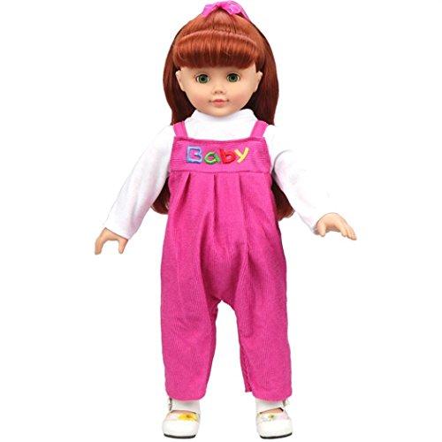 Outfits für 45,7cm American Girl Puppe Unsere Generation mingfa Cute JEANS Kleidung strampelanzug und Puppe Zubehör (Strampelanzug Erwachsene Outfits)