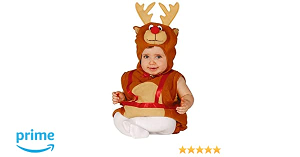 be73f59eed6d Baby Boys Girls Rudolph Reindeer Christmas Velour Onesie Fancy Dress  Costume Outfit (6-12 months): Amazon.co.uk: Toys & Games