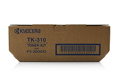 Original Toner passend für Unisys ED nicht eintragen Kyocera TK310 02F80EU0, 0T2F80EU, 1T02F80EU0, 2F80EU0, T2F80EU - Premium Drucker-Kartusche - Schwarz - 12.000 Seiten (Ed-drucker)