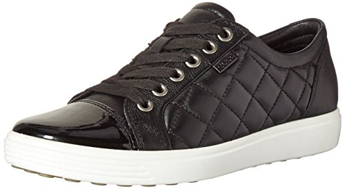 Ecco Damen Soft 7 Ladies Sneaker Schwarz (50659black/black)