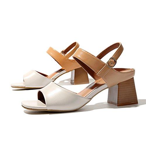 Britische offene zehe high heels/Retro mit dem wort mit römischen sandalen B