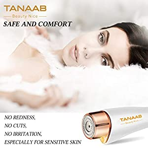 Facial Hair Removal Flawless for Women TANAAB Professional Painless Flawlessly Smooth Waterproof Facial Hair Remover for Face Lips Chin Cheeks Arm Built-in LED