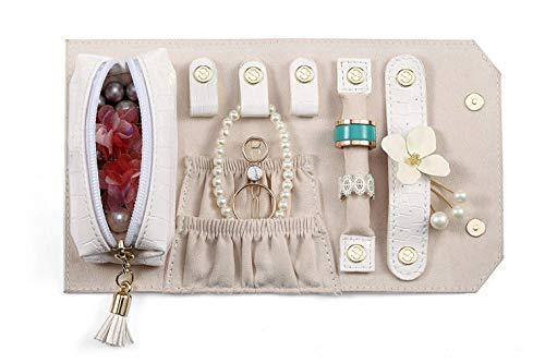 Vadoo espositore per gioielli vassoio portaoggetti contenitore per porta supporto per organizer supporto beige (si prega di notare che i gioielli e gli accessori non sono inclusi nella confezione)