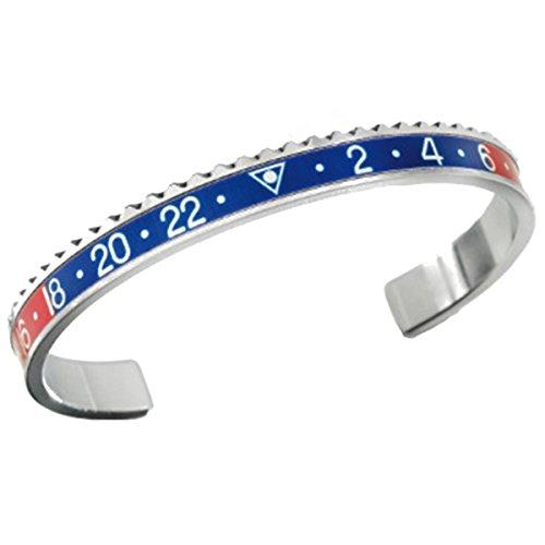 Armband im Lünetten-Stil GMT blau rot