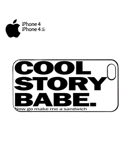 Cool Stroy Babe Make Me Sandwich Mobile Cell Phone Case Cover iPhone 5c Black Noir