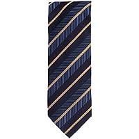 Silk classico cravatta seta Motivo a strisce blu oro scuro 8,5 (Oro A Strisce Cravatta)