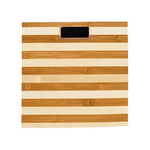 ZHAS Bilancia per la Salute Umana Scala Zebra Bamboo Scale Protezione Ambientale in Legno Design Antiscivolo Famiglia, Zebra Pattern