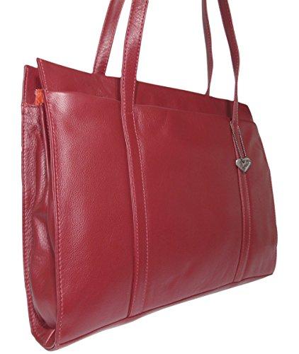 Josephine Osthoff Handtaschen-Manufaktur, Poschette giorno donna One size Bordeaux / Glattleder