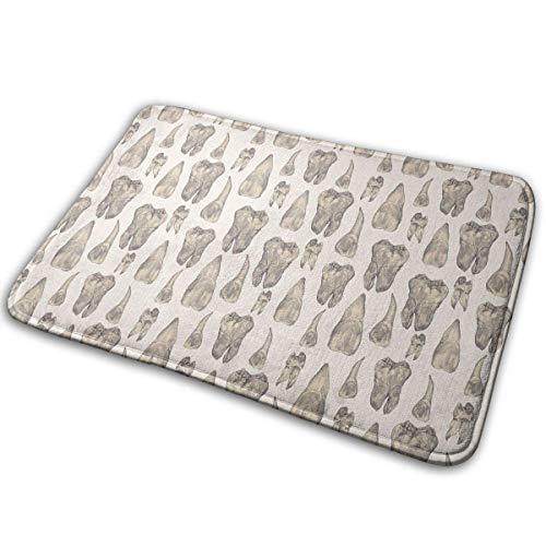 Bgejkos Sharp Teeth Pattern Home Fußmatten Einzigartige Indoor-Außentürmatten (19,7 x 31,5 Zoll)