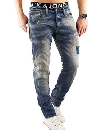 JACK & JONES Herren Ben Original Skinny Jeans Blau (Blue Denim)