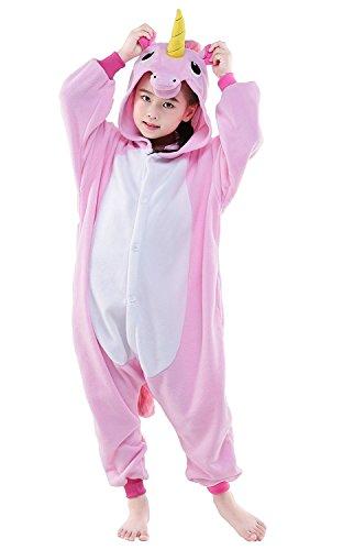 (RandLand Kinder Einhorn Kostüm Tier Erwachsene Schlafanzug kigurumi Cosplay Pyjama XX-Small, Rosa, Einhorn)