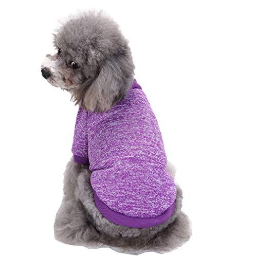 mama stadt Kleidung für Kleine Hunde,Warme Pullover Stricken Herbst Winter Puppy Yorkshire Chihuahua Welpe Mantel,Größe XS-2XL