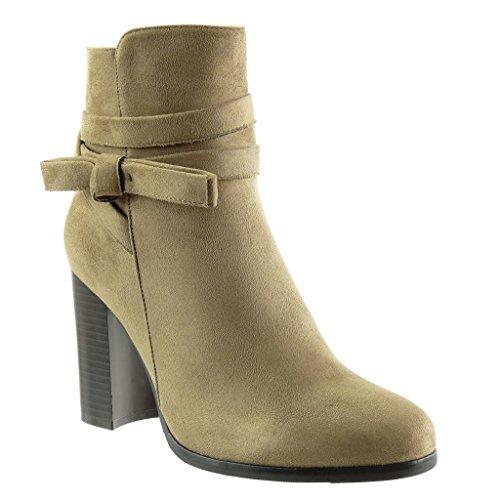 BELMONDO Sandalo con cinturino e tacco alto nero elegante Donna Taglia IT 38