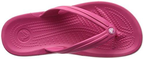 Crocs Crocband Flip Flop, Pink (Paradise Pinkwhite), 5 Uk Women 4 Uk Men (7 Us Women 5 Us Men)