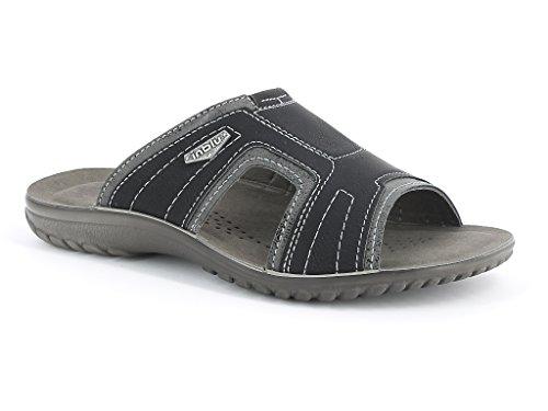 Hommes Messieurs Deux Tons Confort Casual Enfiler Été Plage Vacances Tous les jours Sliders Sandals Chaussures Taille Noir
