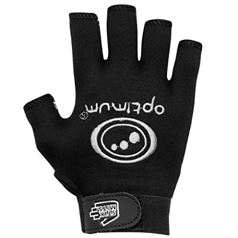 Optimum Stik Mits Mens Rugby Grip Gloves - Black, Large [ Hand Circumference : 9-10 inches]