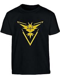 Go Team Gelb Instinct Logo Kinder T-Shirt - Gr. 140-182