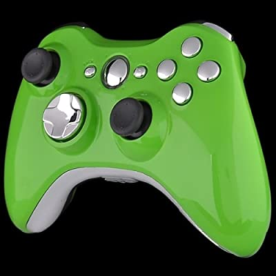 Official Xbox 360 Wireless Controller - Lime Green with Chrome Buttons