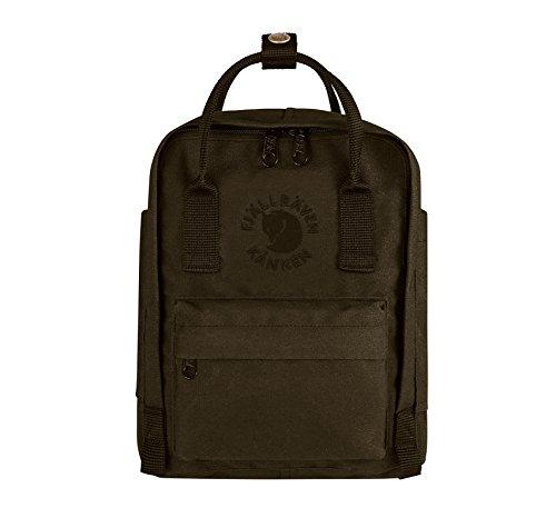 Fjällräven Re-Kanken Mini Rucksack, Dark Olive, 29 x 20 x 13 cm, 7 L