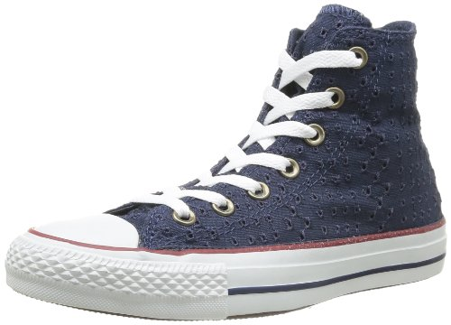 Converse Chuck Taylor All Star Eyelet Cut, Baskets mode mixte adulte Bleu (Marine)