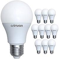 LM® E27, attacco Edison, 10 W, GLS A60 con lampadina, luce bianca calda 3000 K 900 lm sostituisce lampadine a incandescenza da 60-80 W, confezione da 10