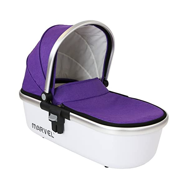 Marvel Carrycot - Monaco Maroon iSafe Luxury Carrycot Suitable For The iSafe Marvel Pram (Chassis & Wheels Are NOT Included) Easy Fit, Unique Design Complete With Free Boot Cover 1