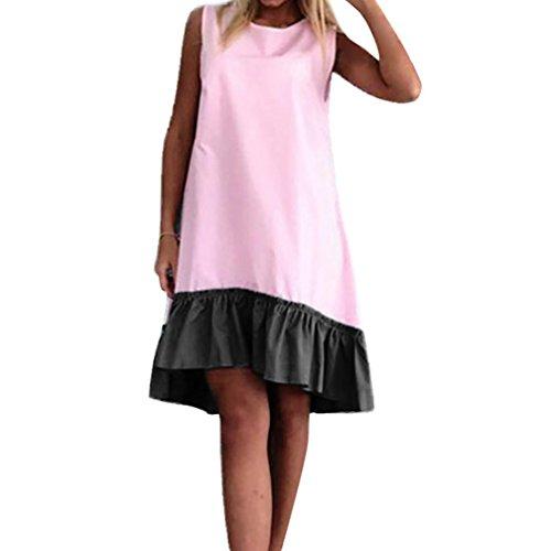 n ärmellose Suffle Mini Neck Collar Beach Casual Dress (Schuluniform Tanz Kostüm)
